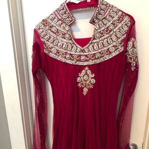 Pink Indian anarkali outfit